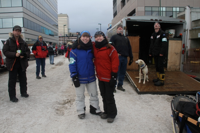 Downtown Anchorage - before the race!